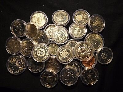 INV #S44 Bulgaria 1980's Group In Capsules 26 Pieces