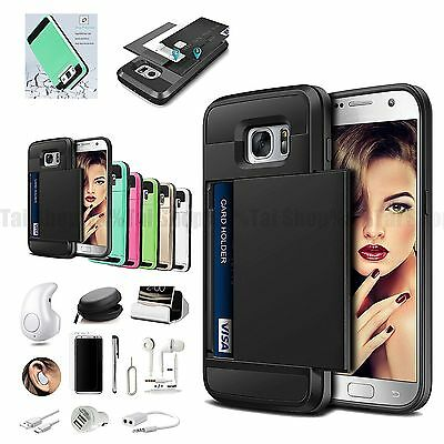 Card Pocket Wallet Case Cover Wireless Headset Charger Samsung Galaxy Note 8
