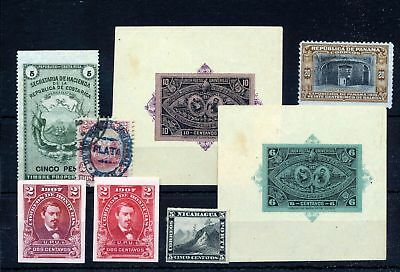 Panama Honduras Honduras Early M&U (8 Items) Sam 814s