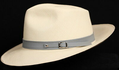 3f4ff95be9e Leather Hat band 90 - Grey- Men Ladies Sun Panama Hat fedora Replacement  strap