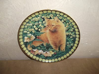 Danbury Mint Lesley Anne Ivory Plate Cats Among The Flowers Hellebores