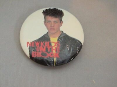 1989 NEW KIDS ON THE BLOCK NKOTB Joe Joey McIntyre 1.5 inch button