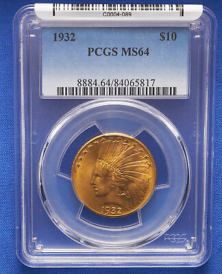 1932 $10 Indian Eagle Gold Coin PCGS MS 64 P.Q.
