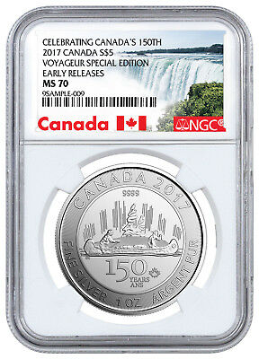 2017 Canada 150th - Voyageur Special Edition 1 oz Silver $5 NGC MS70 ER SKU49415