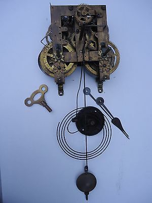 Antique American Chiming Clock Movement. Spares Or Repair