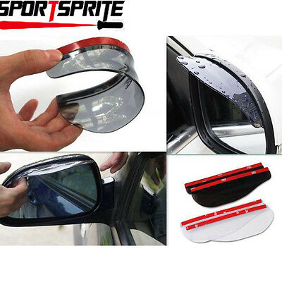 Universal Rear View Black Side Mirror Rain/Snow Shield For Auto/Truck (2 Pieces)