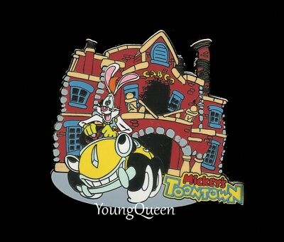 Disney Mickey's Toontown Roger Benny Cab Car Toon Spin Pin