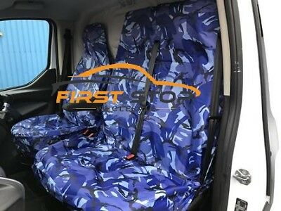 Peugeot Expert Hdi Heavy Duty Blue Camouflage Van Seat Covers 2+1