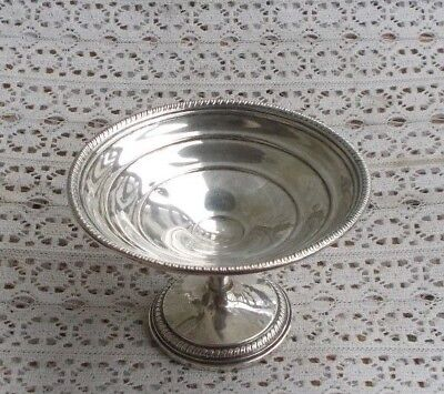 "NICE Vintage 5"" Sterling Silver Footed Compote Candy Dish Bowl Collectible LOOK"