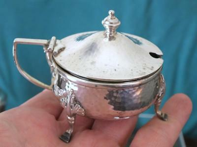 Fine Arts & Crafts Solid Silver Mustard Pot - 1931 - Goldsmiths & Silversmiths