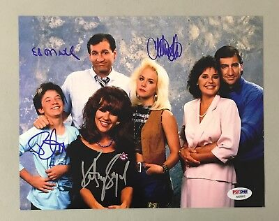 MARRIED WITH CHILDREN Cast 4x Signed 8x10 Photo w/ Ed O'Neill PSA/DNA LOA