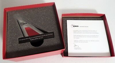 NWA Commemorative Authentic piece of the red tail from aircraft #6622