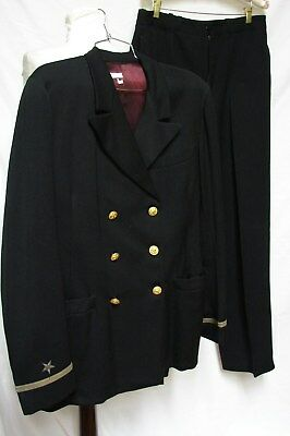 DATED 1940s VINTAGE WWII  NAVY OFFICERS UNIFORM 2 PIECE SUIT