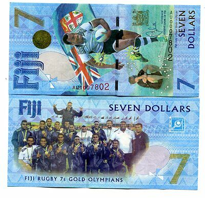 Fiji 7 Dollars Nd(2017) P-New Unc Commemorative