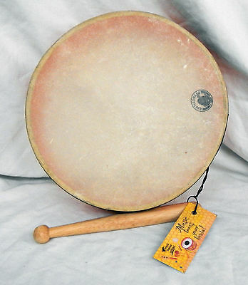 Hand Made Hand Drum / Shamanic Drum / Bhodran & Beater - Assorted Colours - BNIB