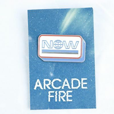 Arcade Fire Everything Now Infinite Content Concert Tour Pin - NOW Logo