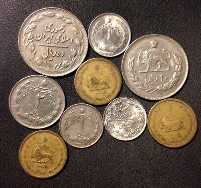 Old Iran Coin Lot - 1939-Present - Mostly Older Shah Era - Scarce - Lot #919