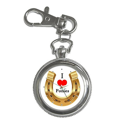 I Love Ponies Pony Hoof Horse Shoe Keychain  Watch **brilliant Gift Item**