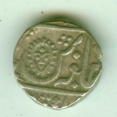 Indore Silver 1830 1/2 Rupee-Lot A3