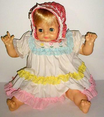 "Vintage 1965 Vogue Baby Dear One 22"" Long Baby Doll With Crier"