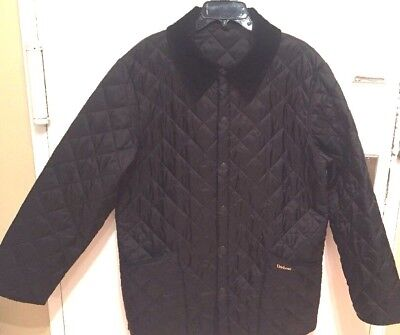 Barbour  Mens Black Quilted  Jacket Size M  Excellent