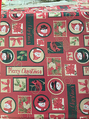 "Merry Christmas Snowman Tablecloth Holiday St. Nicholas Square 102"" Oblong, NWT"