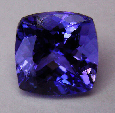 3.56ct!! NATURAL TANZANITE EXPERTLY FACETED IN GERMANY +CERTIFICATE INCLUDED