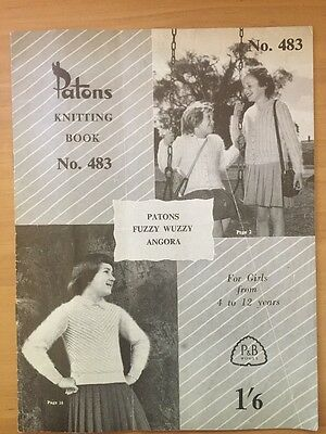 Patons Vintage  Knitting Pattern book  For Girls 4-12 Years no.483