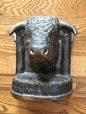 Gladys Brown BULL Bookend from 1947 signed