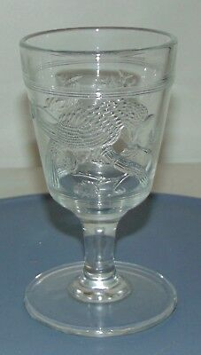 ANTIQUE EAPG Goblet BLUE JAY Or CARDINAL