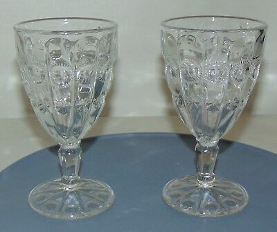 TWO! ANTIQUE Goblets MOON & STARS EAPG