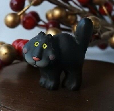 Hallmark Merry Miniature Halloween 1986 Black Cat