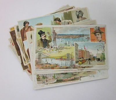 Lot (16) 1800s Advertising Trade Cards Coffee Arbuckle NY CA Palestine etc JJ606