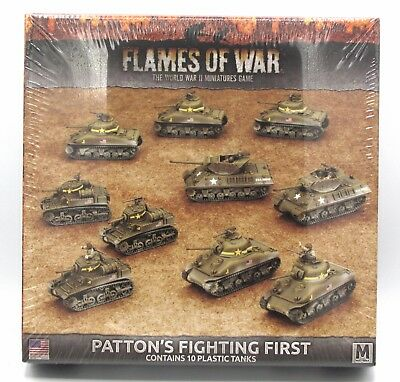 Flames of War USAB08 Patton's Fighting First Plastic Army Deal USA WWII Tanks
