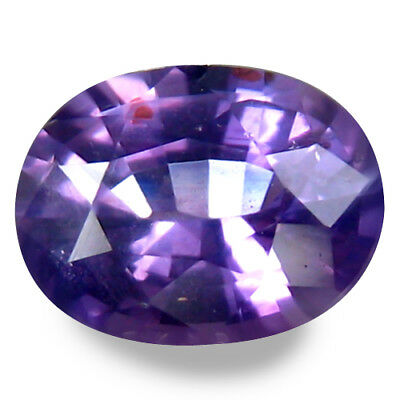 0.750CTS Extraordinary luster purple natural sapphire oval, video in description
