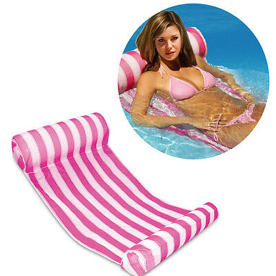 Soft Inflatable PVC Water Hammock Bed Roll Up Floating Raft Lounger Relax Chair