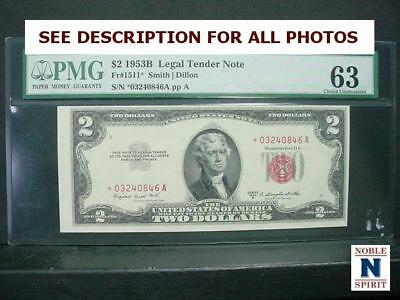 NobleSpirit NO RESERVE {RF}Beautiful 1953B US $2 Star UNC MS63 Legal Tender Note