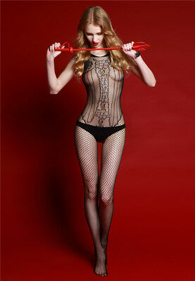Sexy Lingerie Exotic Catwoman tight Uniform Temptation Suit Fishnet bodystocking