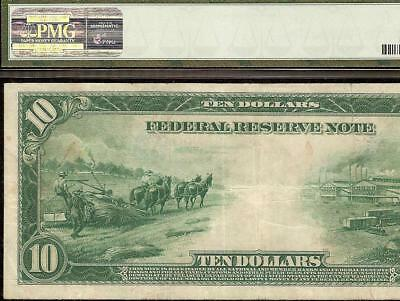 Large 1914 $10 Dollar Bill Federal Reserve Note Big Paper Money Currency Pmg