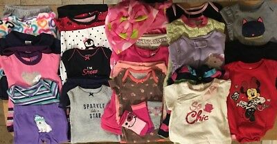 EUC Adorable Baby Girl Summer CLOTHES LOT Outfit Sets 0-3 & 3 Months Lot #3