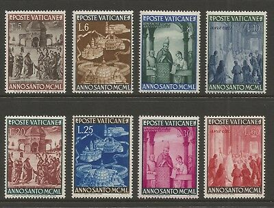Vatican 1949 Holy Year (8) S.g 151-158, Mlh*