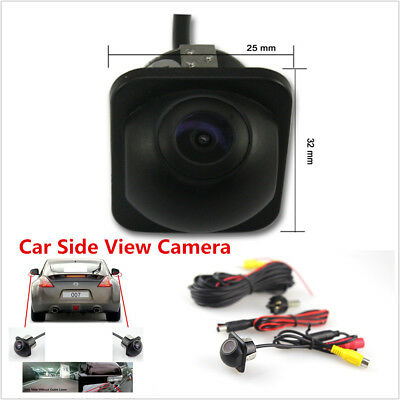 Mini Car SUV Rear Side Front Mirror 170° View CCD Backup Parking Hole Camera Kit