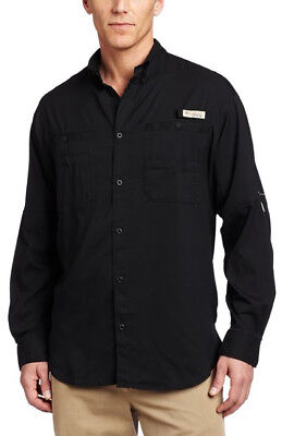 Columbia Men's Tamiami II Long Sleeve Shirt - Black