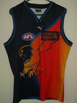 west coast eagles puma afl  jersey guernsey shirt top size L No 24