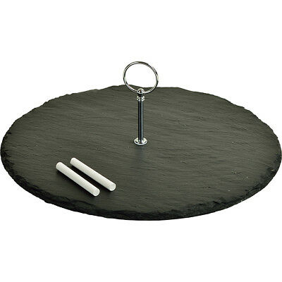 Picnic at Ascot Selva Slate Cheese Board with Soapstone Outdoor Accessorie NEW