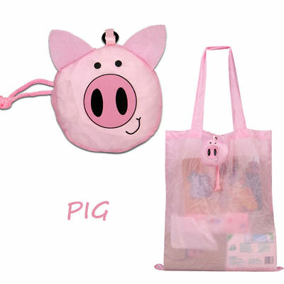 Reusable Eco Shopping Bag Women Girls Travel Foldable Pig Tote Handbag Portable