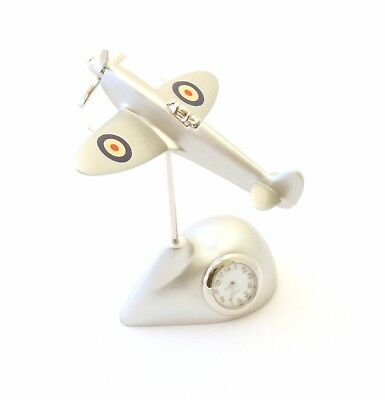 Spitfire Clock RAF Roundel Wings Mantel or Carriage Clock Royal Air Force  342