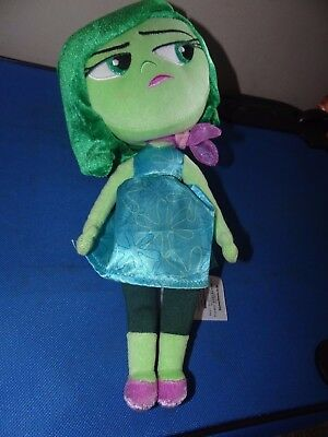 Disney Store Inside Out Disgust Plush 11""