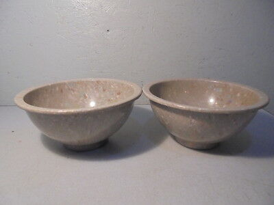 Pair Of Pre-Owned Texas Ware #111 Splatter Mixing Bowls
