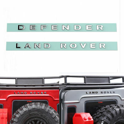 LAND ROVER and DEFENDER metal logo sticker for Traxxas TRX4 RC4WD D90 D110